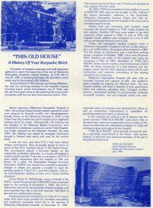 OOH Keepsake Brick History